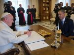 U.S. President Barack Obama meets with Pope Francis, March 27, 2014 at the Vatican.