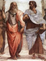 Raphael's The School of Athens, depicting Plato and Aristotle.