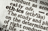 "Dictionary definition of the word ""ethics"", in macro."
