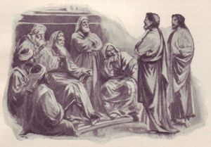 Peter and John before the Sanhedrin.