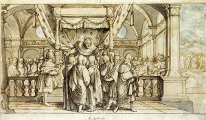 The Arrogance of Rehoboam, circa 1530.  Hans Holbein the Younger.