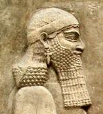 Sennacherib (as crown prince) on a relief from the Khorsabad,  now in the Louvre.