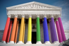 Supreme Court rainbow.