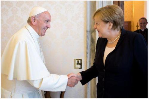 Merkel and Pope